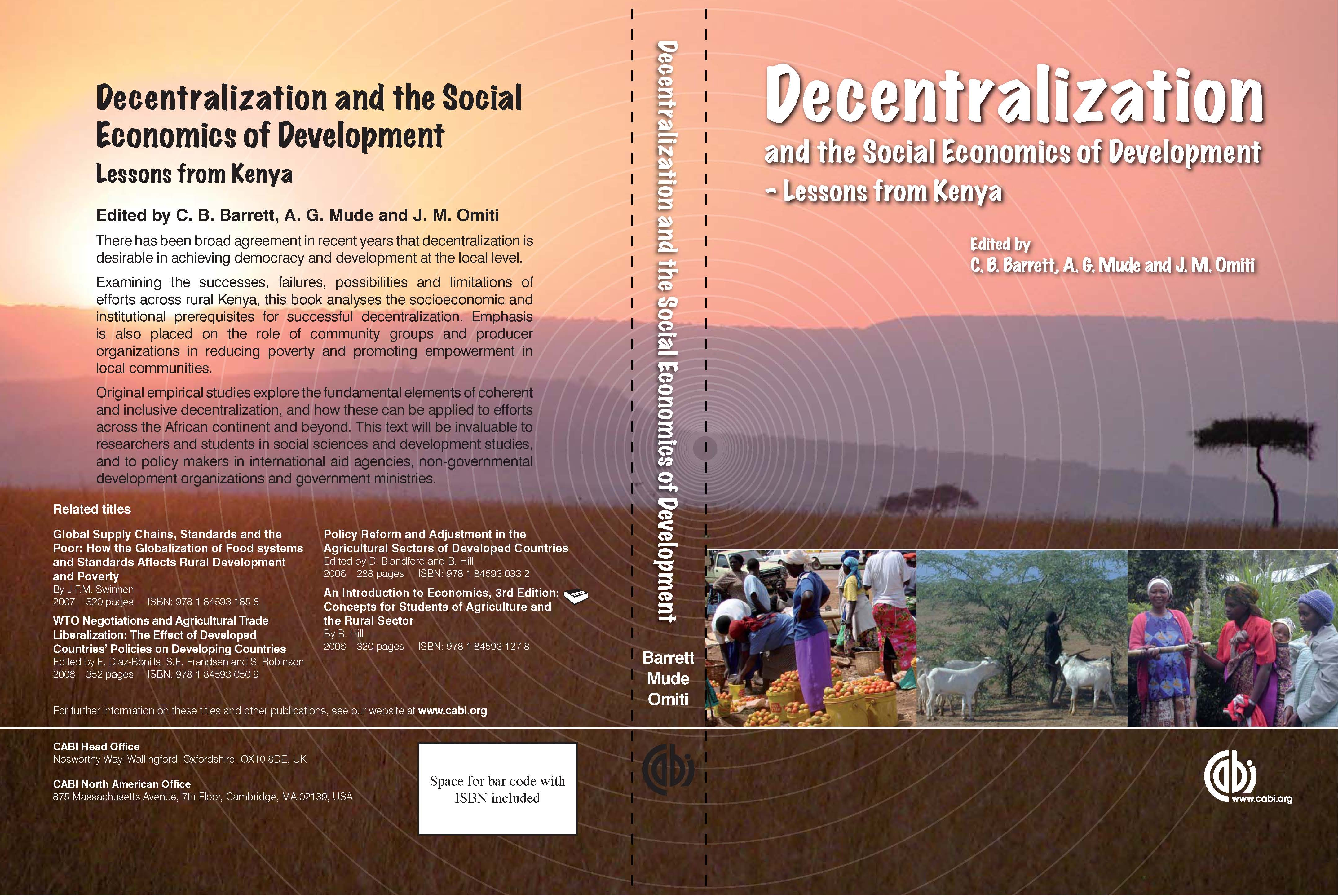 Decentralization and the Social Economics of Development-Lessons from Kenya